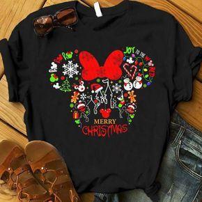 Mickey Head Christmas Shirt, Cute Christmas Disney