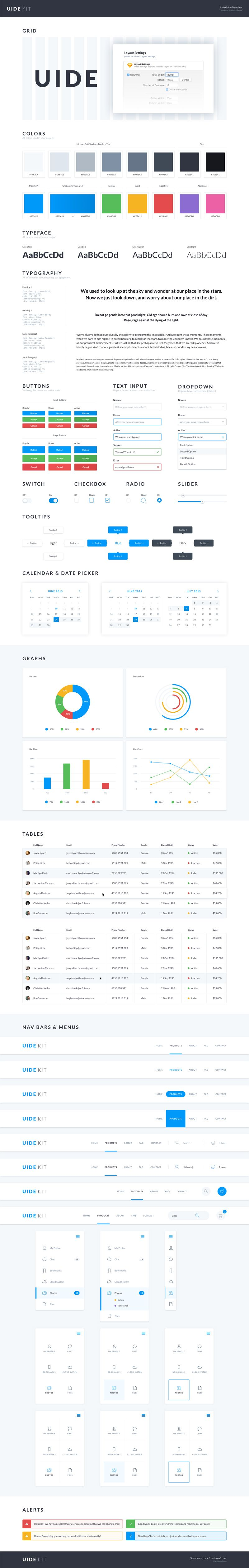 UIDE Kit - Sketch Style Guide Template   UX UI   Pinterest ...