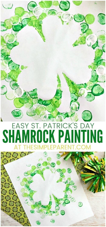 Shamrock-Eibisch-Malerei für St Patrick Tag!