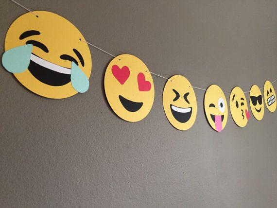 Emoji Banner By Modestedge On Etsy Emoji Birthday Party Emoji Theme Party Emoji Birthday
