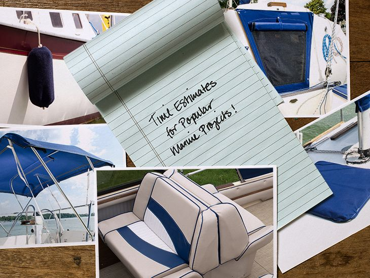 See how long it will take a beginner to sew popular marine projects like fender covers, biminis, back-to-back seats, hatch covers and companionway covers.