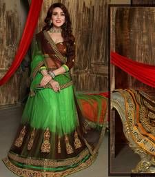 284f9a31ddbe51 Buy Best Deal Designer Green Embroidered Jacquard Fancy Lehenga with Blouse  ghagra-choli online
