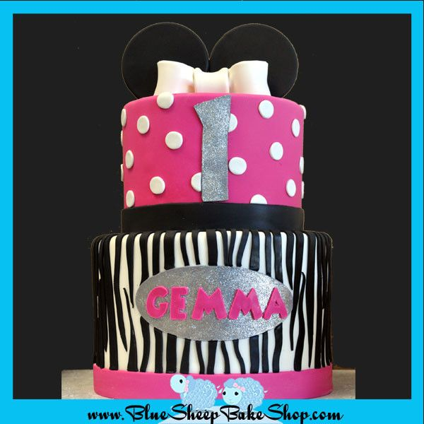 Minnie mouse 1st birthday cake from Blue Sheep Bake Shop in NJ