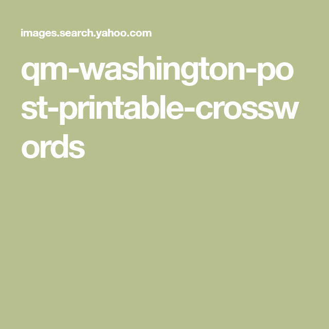 This is a graphic of Washington Post Sunday Crossword Printable with nyt