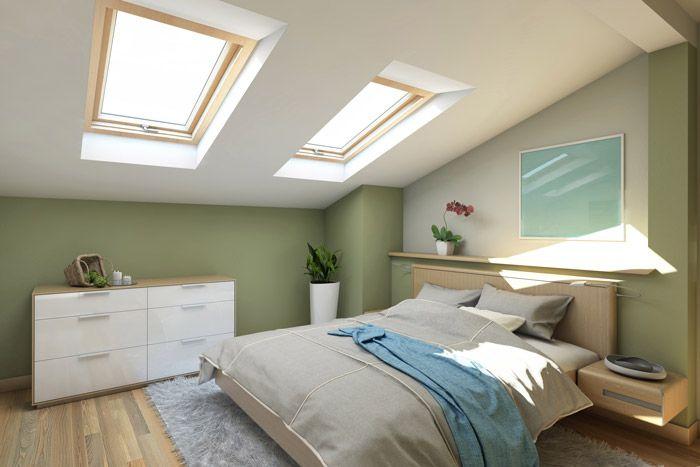 Wand Zweifarbig Streichen Ideen Schlafzimmer