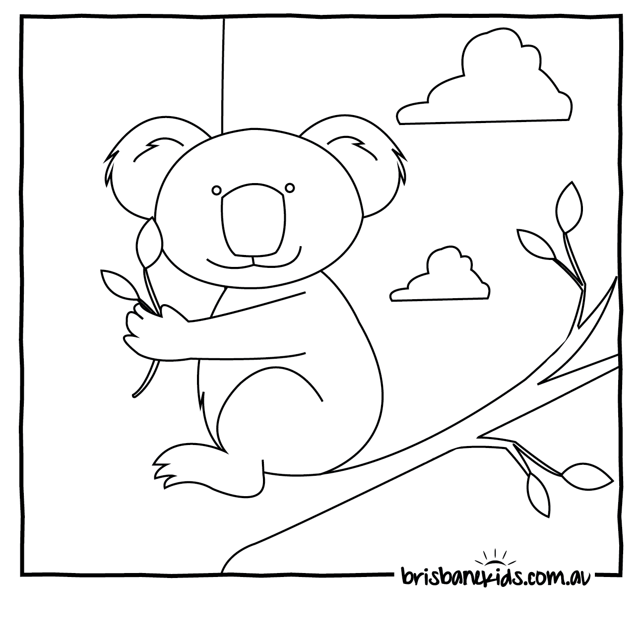 Printable coloring pages koala - Australian Animals Colouring Pages