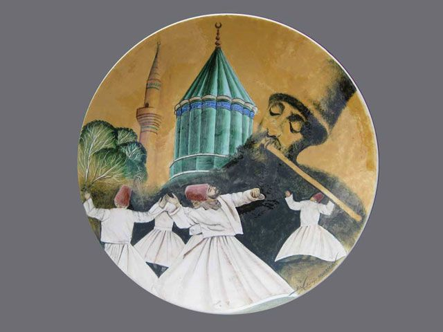 Konya Da Cini Sanati Painting Konya Decorative Plates