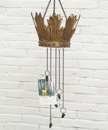 Creative Co-op Metal Curtain Crown