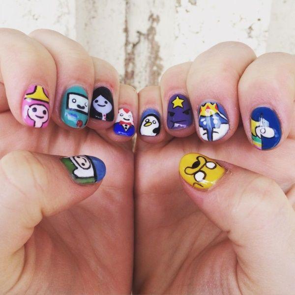 90 Cartoon Nail Art Ideas For The Young At Heart | Cartoon