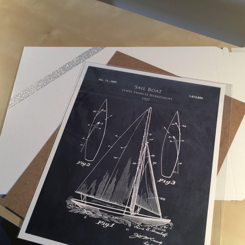 1920s sail boat patent print sail boat blueprint art sailing decor 1920s sail boat patent print sail boat blueprint art sailing decor boating seaside beach art nautical decor sailing art husband gift malvernweather Images