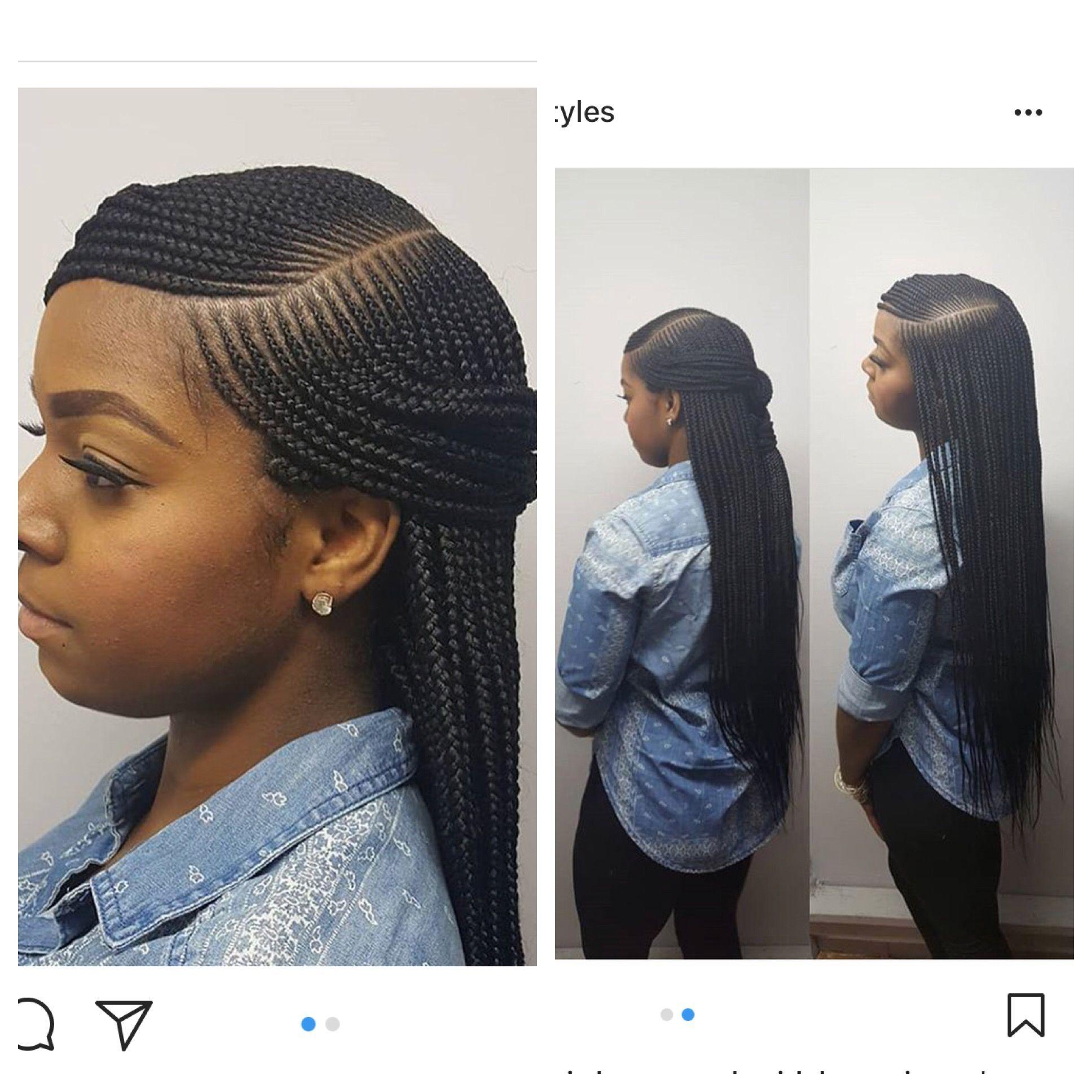 My Style Bangshairstylewavy Scalp Braids Braided Hairstyles Scalp Braids With Weave