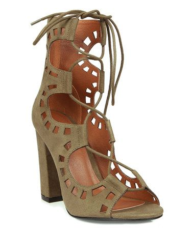ae562b75da2 Another great find on  zulily! Olive Cutout Dove Sandal  zulilyfinds ...