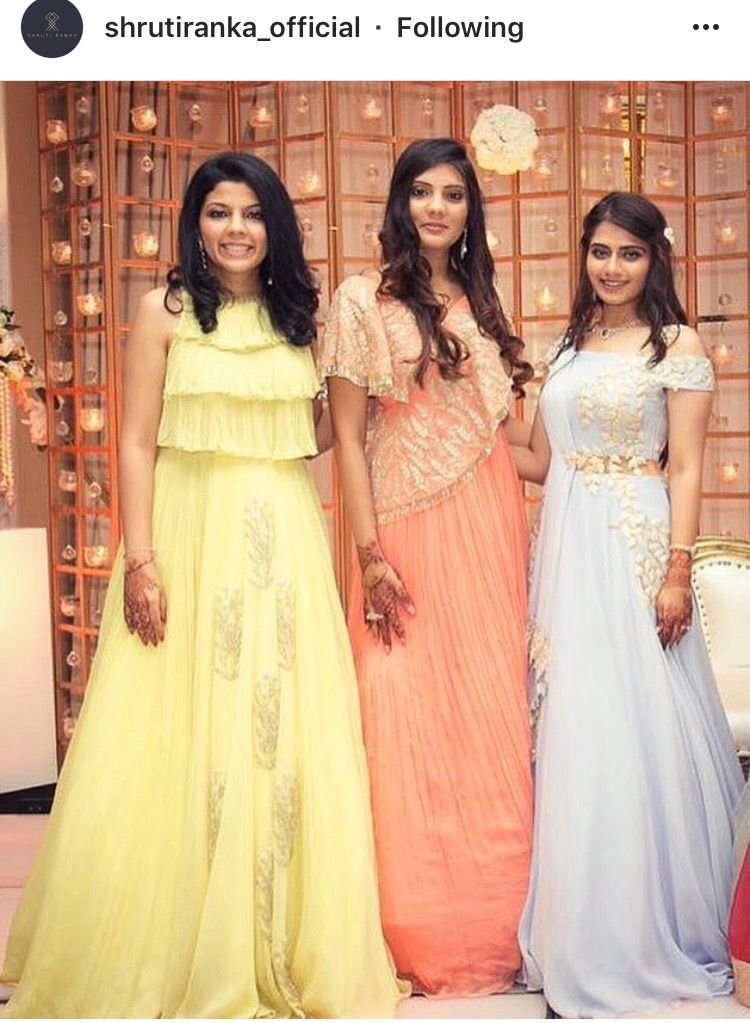 Indian Gown For Friends Wedding Reception By Shruti Ranka Kids