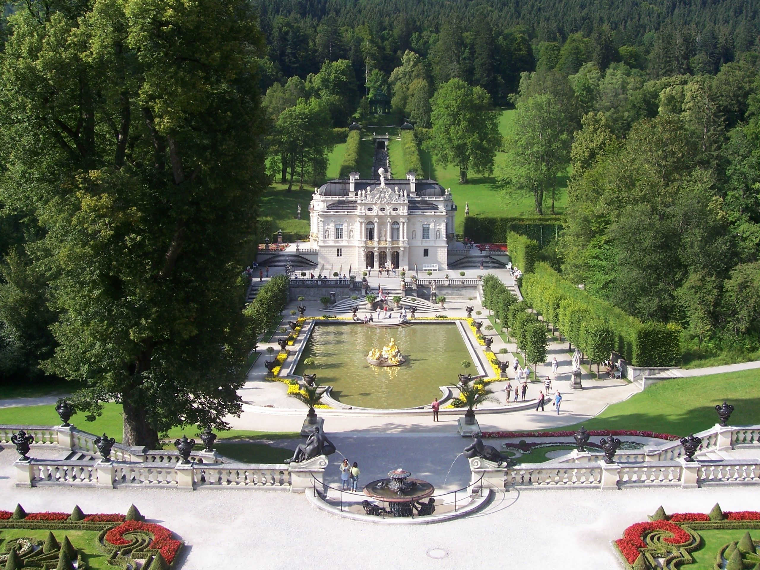 Linderhof Palace German Schloss Linderhof Is In Germany In Southwest Bavaria It Is The Smallest Of The Three German Travel Vacation Time Linderhof Palace