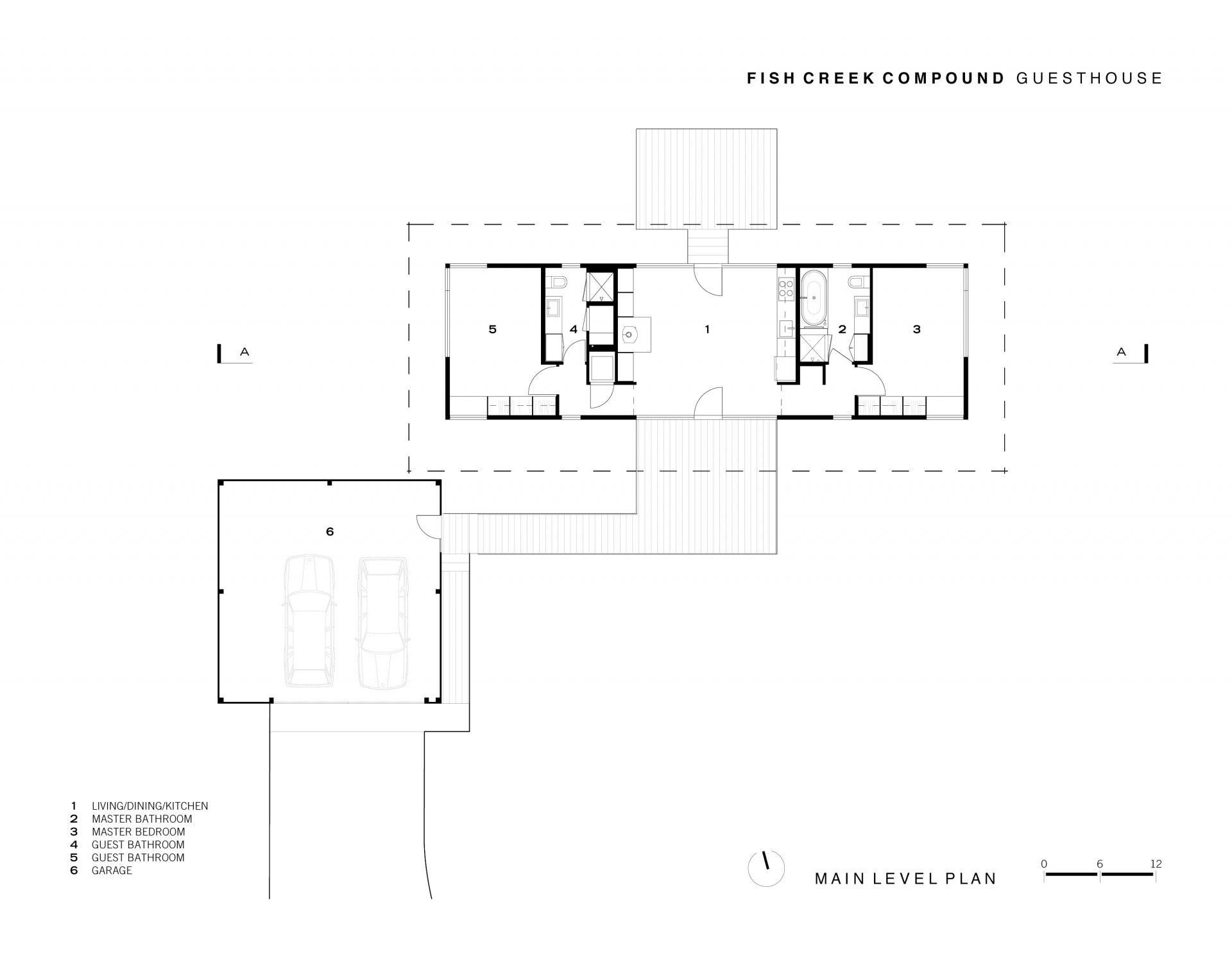 Fish creek guest house a small modern home by carney for Modern guest house plans