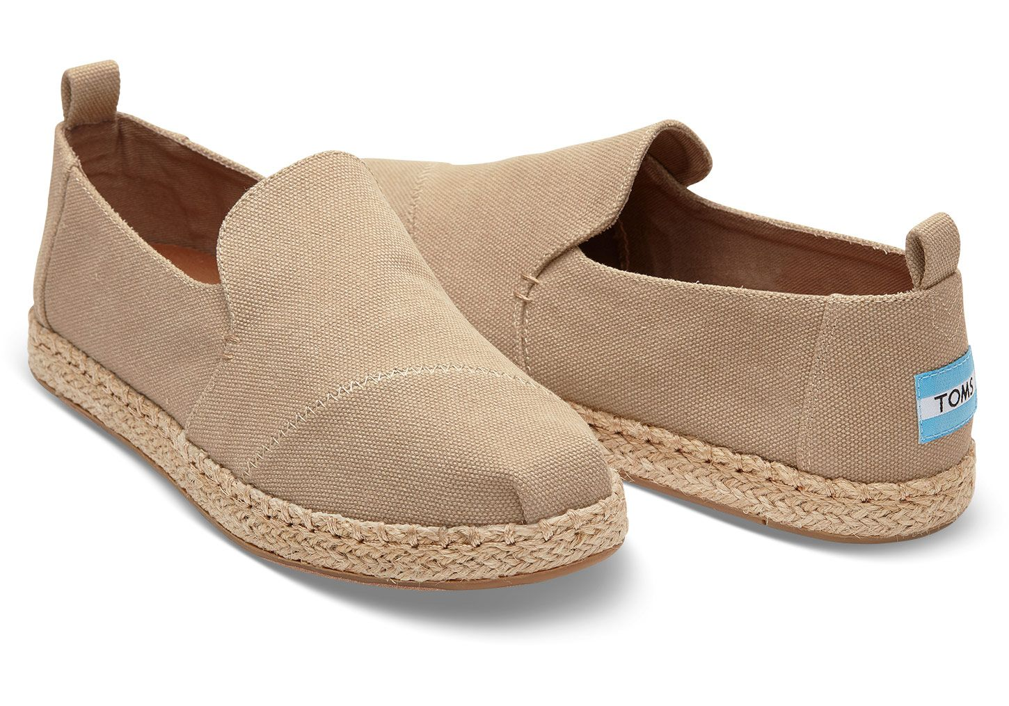 Desert Taupe Washed Canvas Womens Deconstructed Alpargatas