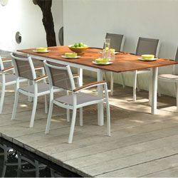 Salon de jardin CARLA en aluminium et eucalyptus | À acheter ...