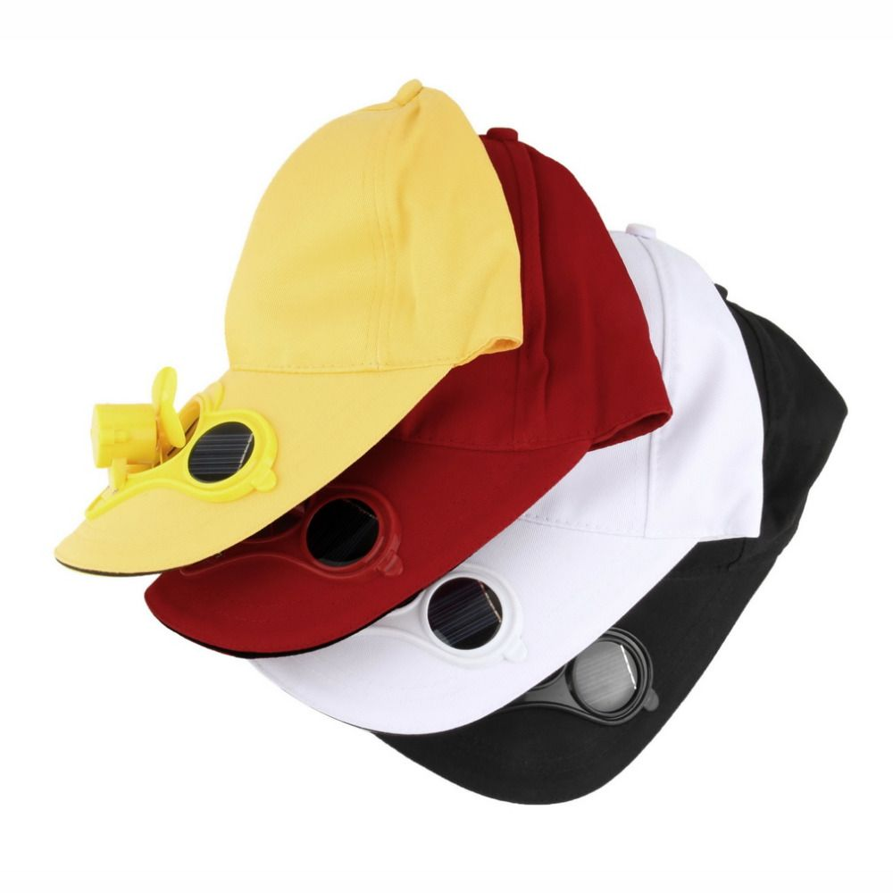 Hwsummer Sport Outdoor Hat Cap With Solar Sun Power Cool Fan For Cycling Cool Stuff Air Fan Solar