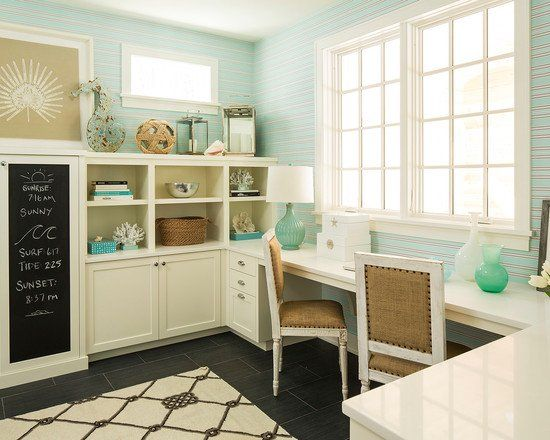Beach Themed Office Blue Home Offices Home Office Design Home