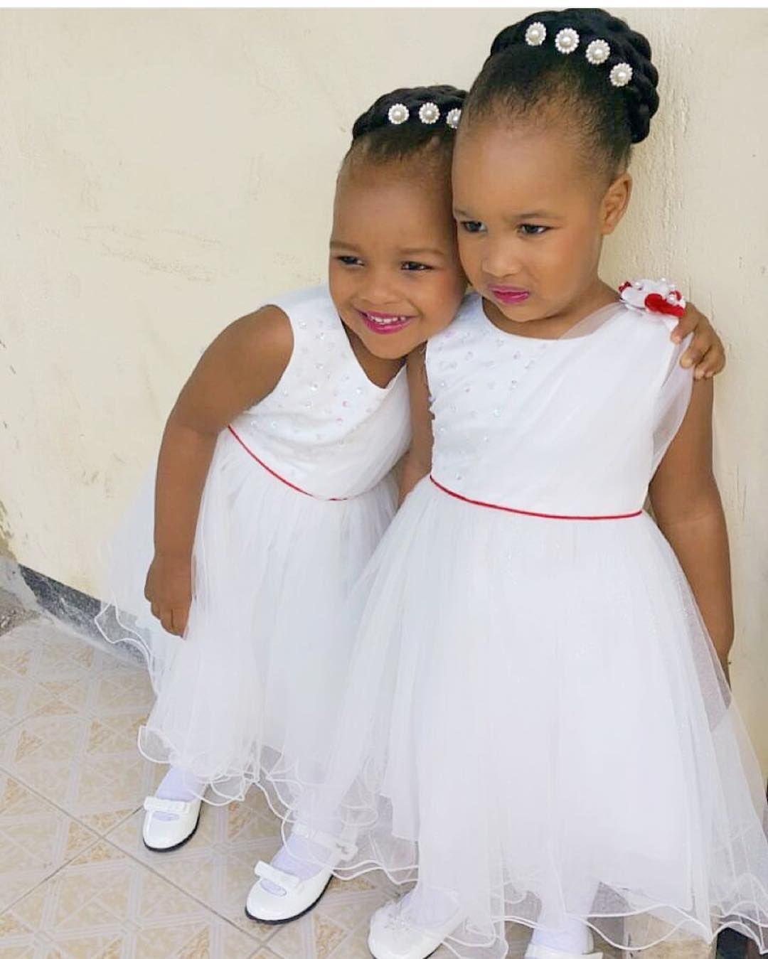 Children Wedding Hair Style: Cuties 💋!. #NWflowergirls #NigerianWedding