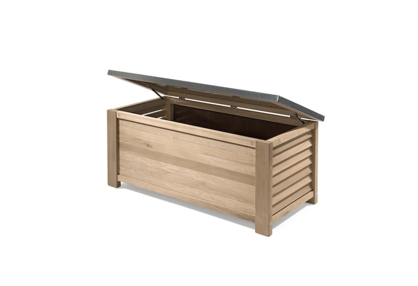 10 Easy Pieces Deck Boxes Gardenista Gardenista Deck Boxes Outdoor Storage Bench