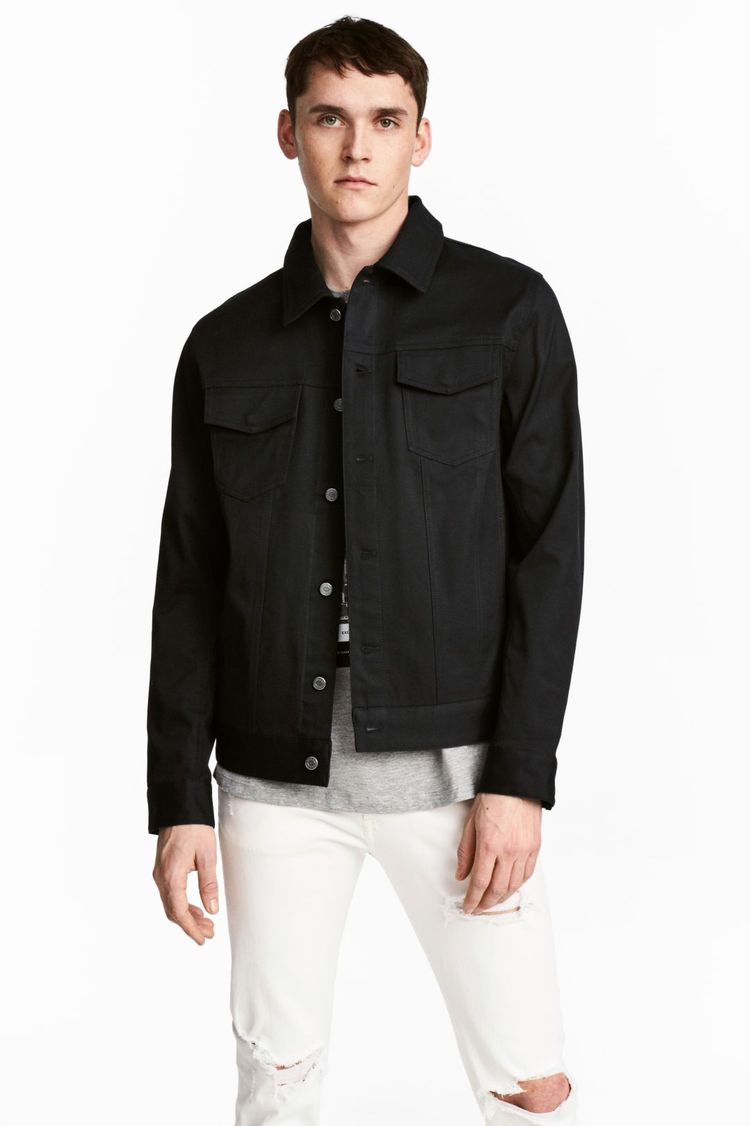 Twill jacket | My Style | Jackets, Denim button up, Bomber