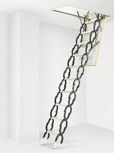 Escalera escamoteable de techo mx lacada met lica - Escaleras plegables techo ...