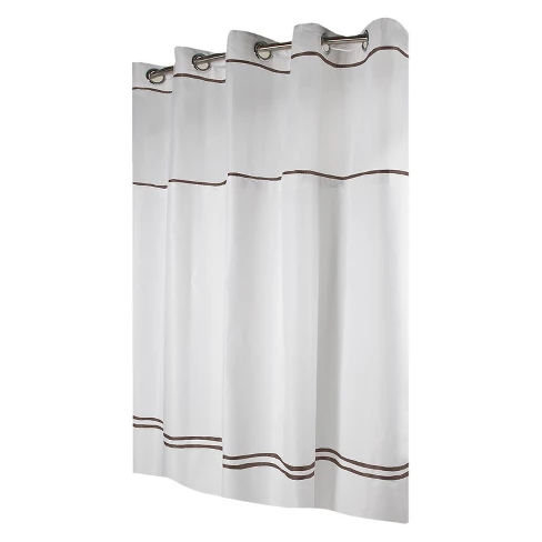 Solid Shower Curtain Hookless Hookless Shower Curtain White