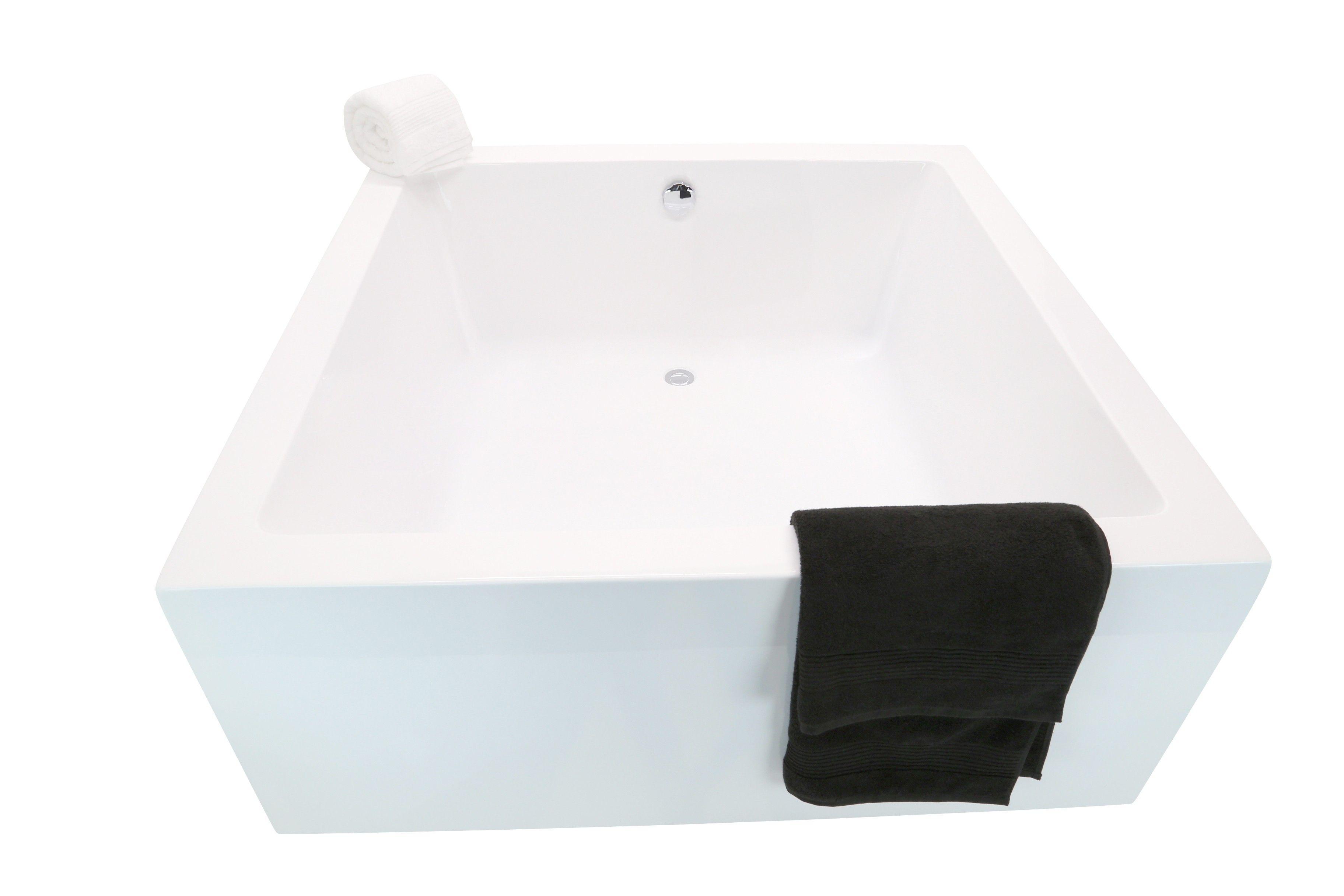55 x 55 Square Freestanding Bathtub - White Tub FT-AZ-400 | Bath ...