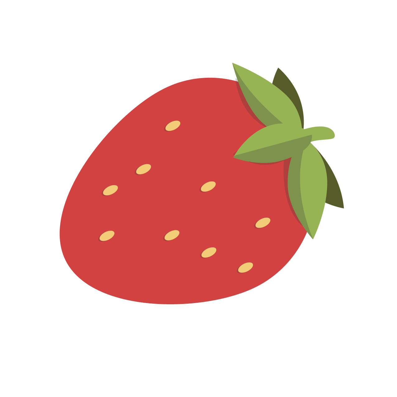 Red Strawberry Cartoon Strawberry Png Image Strawberry Clipart