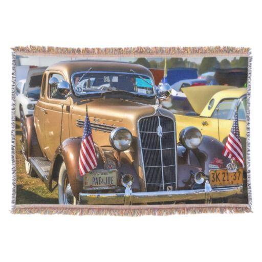 Vintage Cars/Trucks Throw Blanket