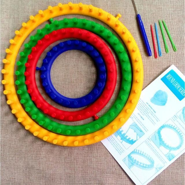 4 In 1 Artscrafts Sewing Diy Round Circle Hat Knitting Loom Kit