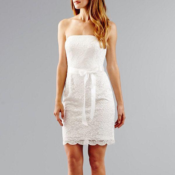 Simply Liliana Strapless Lace Wedding Dress