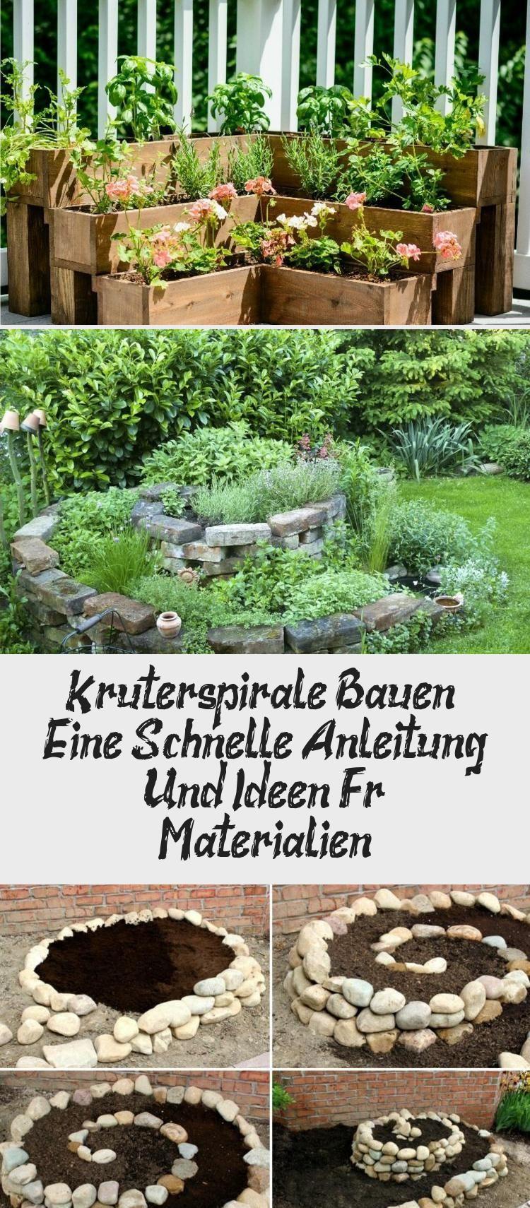 Krauterspirale Bauen Eine Schnelle Anleitung Und Ideen Fur Materialien In 2020 Krauterpflanzen Naturgarten Garten