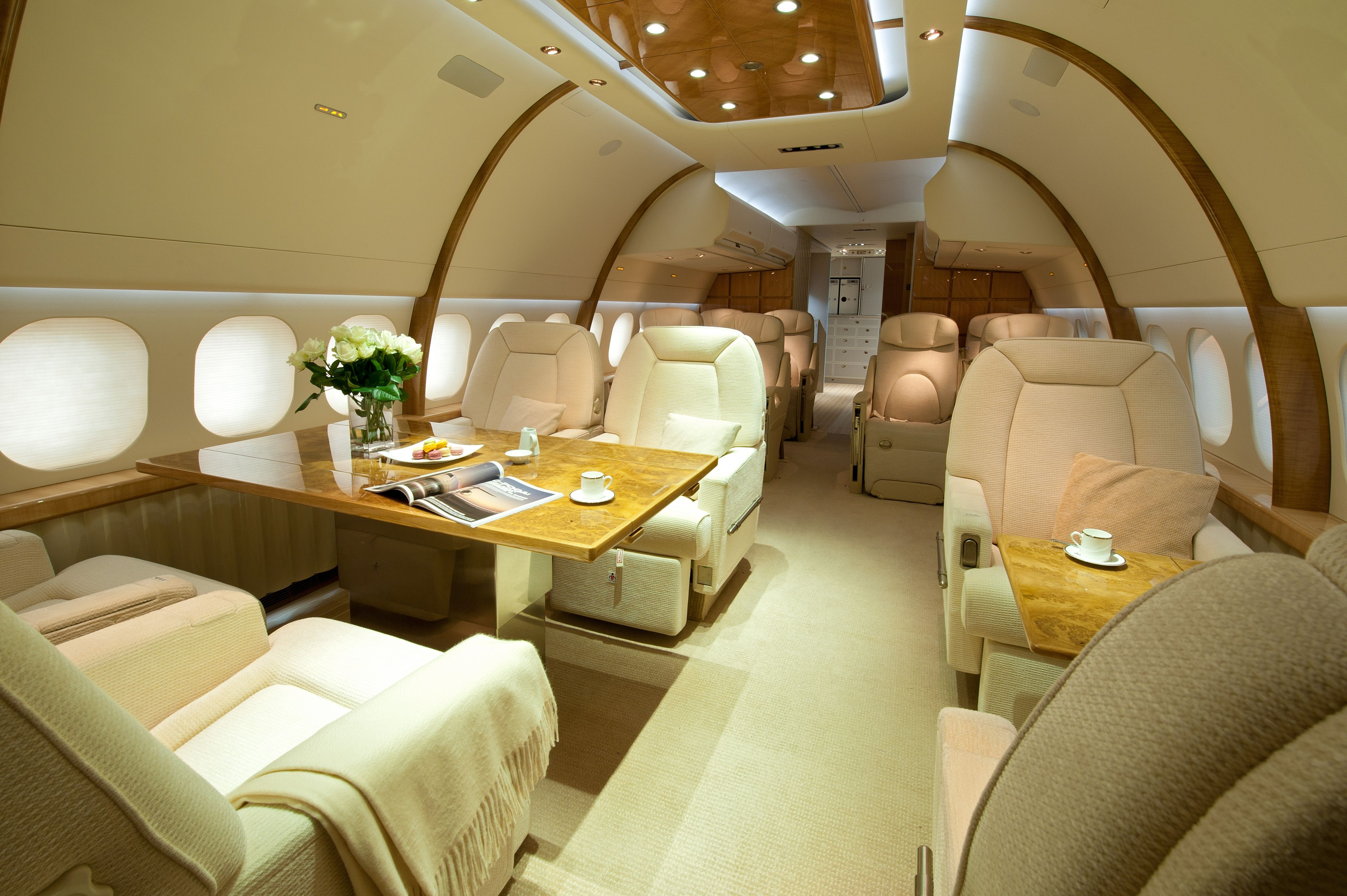 Boeing 757 256 Aft Lounge By Edése Doret Private Plane Jets Luxury