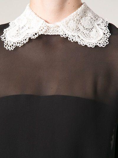 Valentino lace collar blouse.