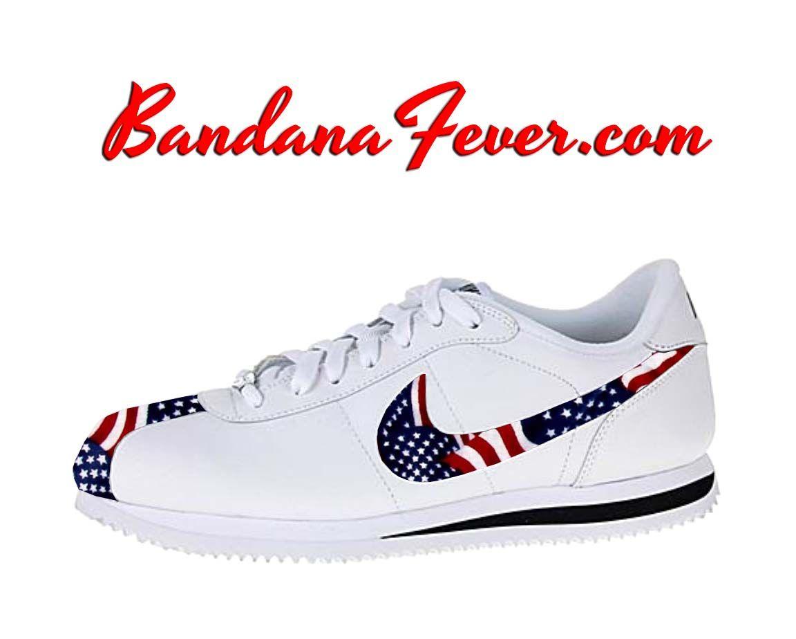 Nike Black/Red Bandana Cortez Leather White/Black