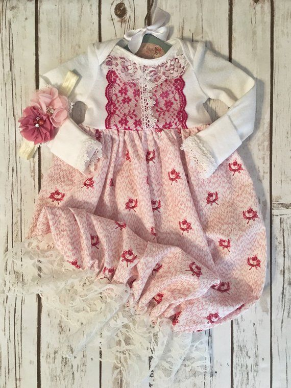 34341a62a Infant Girl Coming Home Outfit, Layette Gown Baby Girl, Take Me Home Outfit,  Floral Hospital Set, Vi