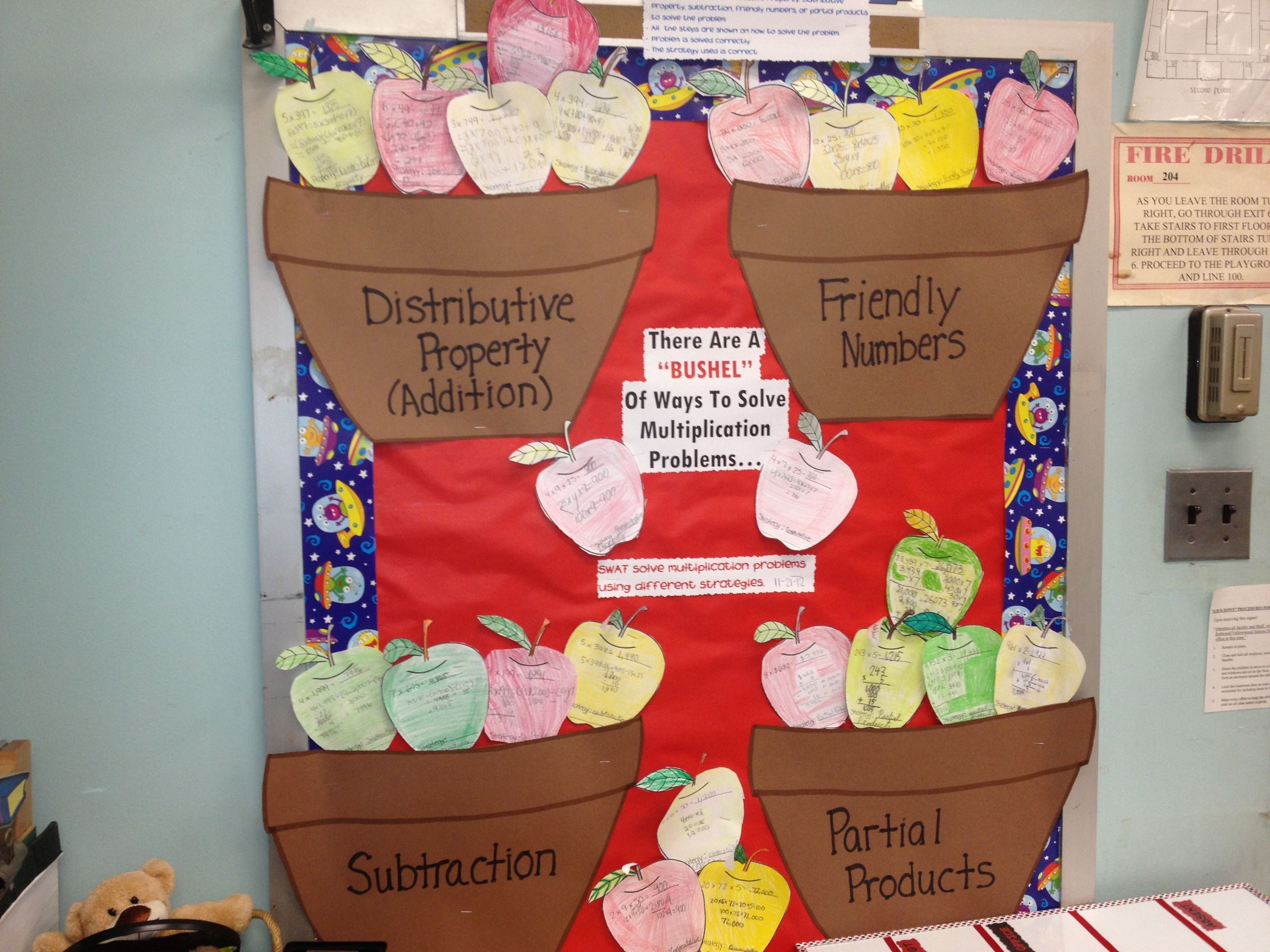 Multiplication Bulletin Board Ere Are A Bushel Of Ways To Solve Multiplication Problems