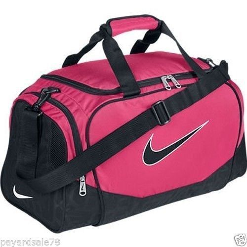 UNISEX DUFFEL BAG GYM PINK DUFFLE SMALL NIKE BRASILIA 5 SPORTS BRAZILIA NWT   Nike  DuffleGymBag 6fdaa12a7f8bc