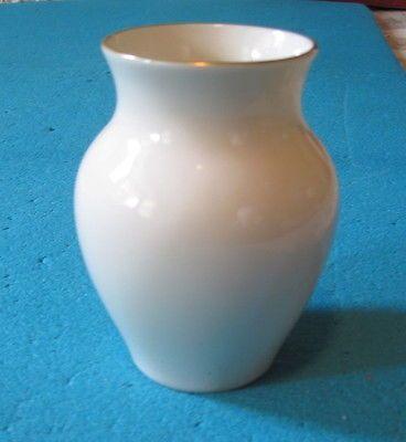 Vintage Lenox 5 Retro Small Ginger Jar Vase Ivory Gold Trim Made In