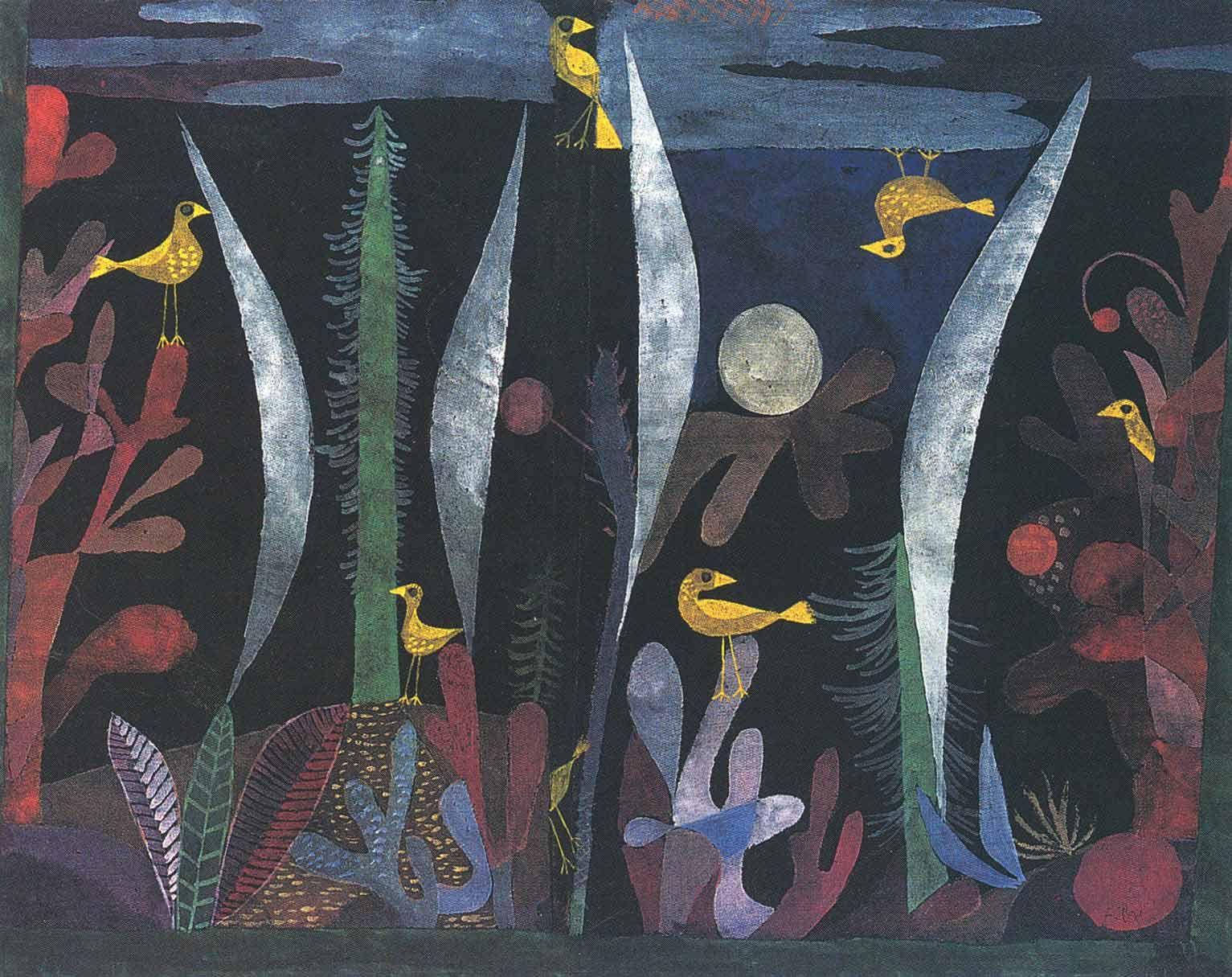 Paul Klee Arte De Passaro Passaro Amarelo Obras De Paul Klee