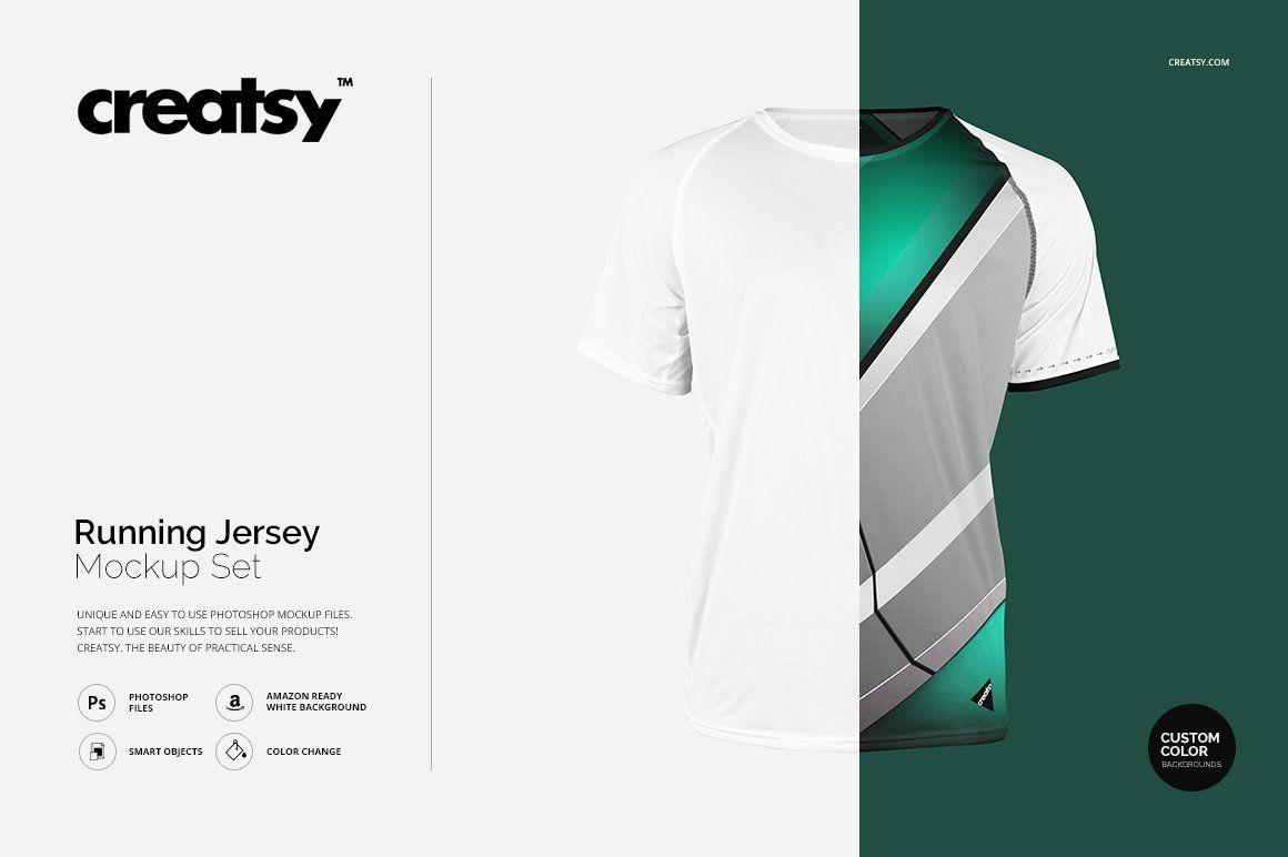Download Running Jersey Mockup Set | Mockup, Clothing mockup ...