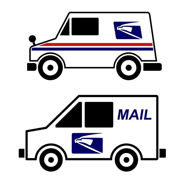 Mail Truck Cuttable Design | Truck crafts, Office ...Usps Delivery Truck Clipart