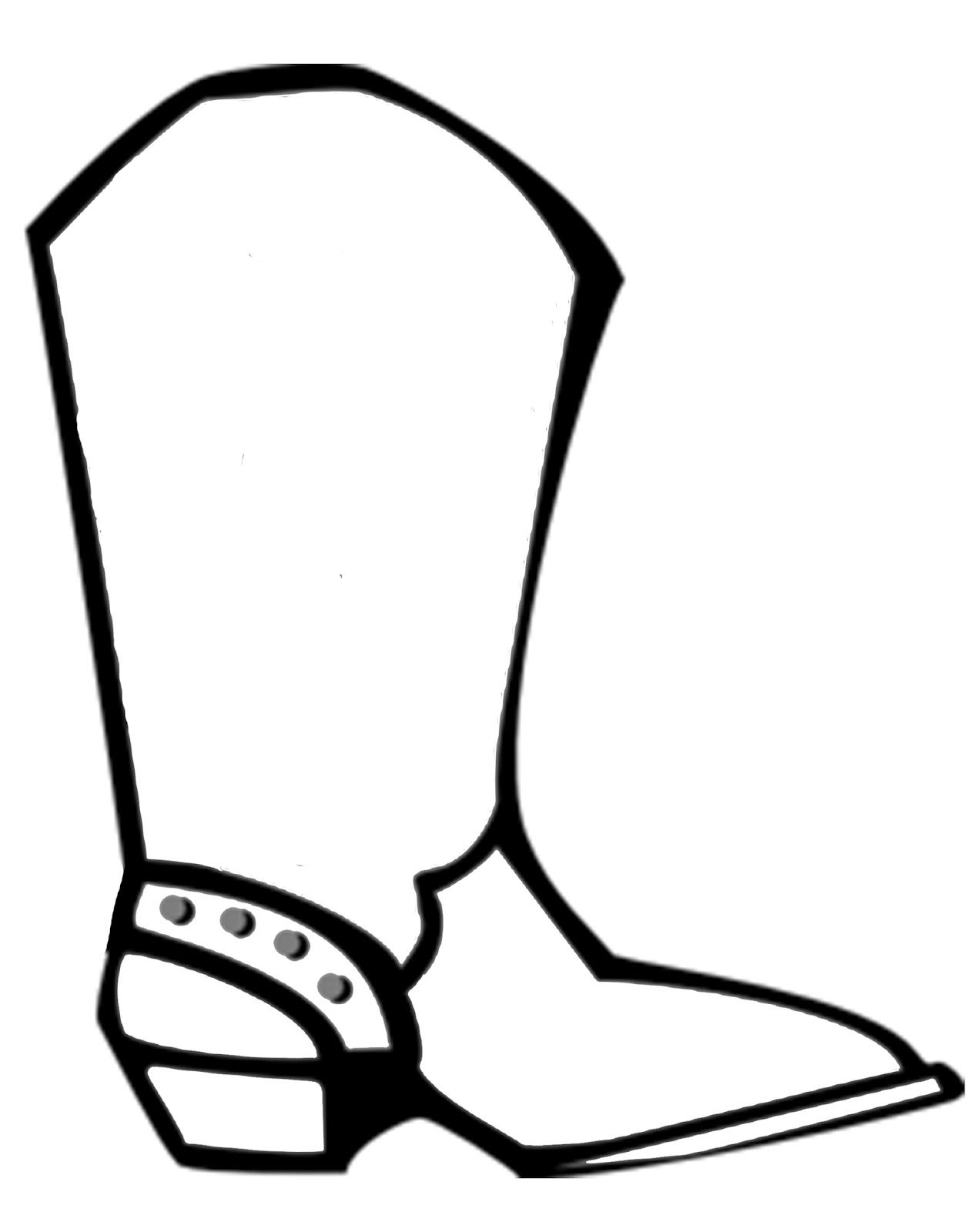 Simple Drawing Of Cowboy Western Boots Cowgirl Boots Colouring
