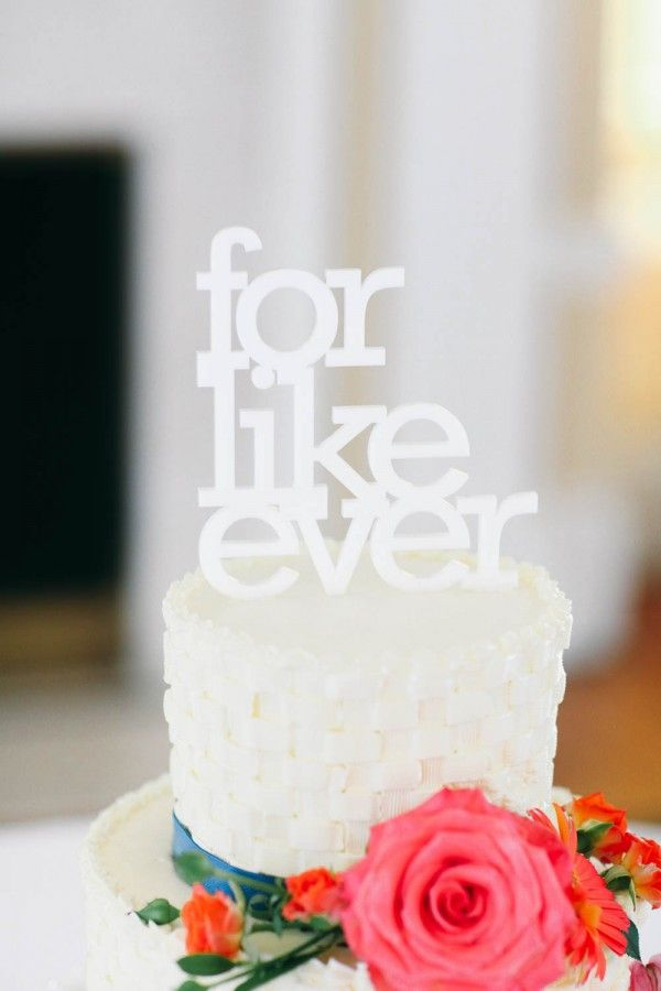 """for like ever"" cake topper 