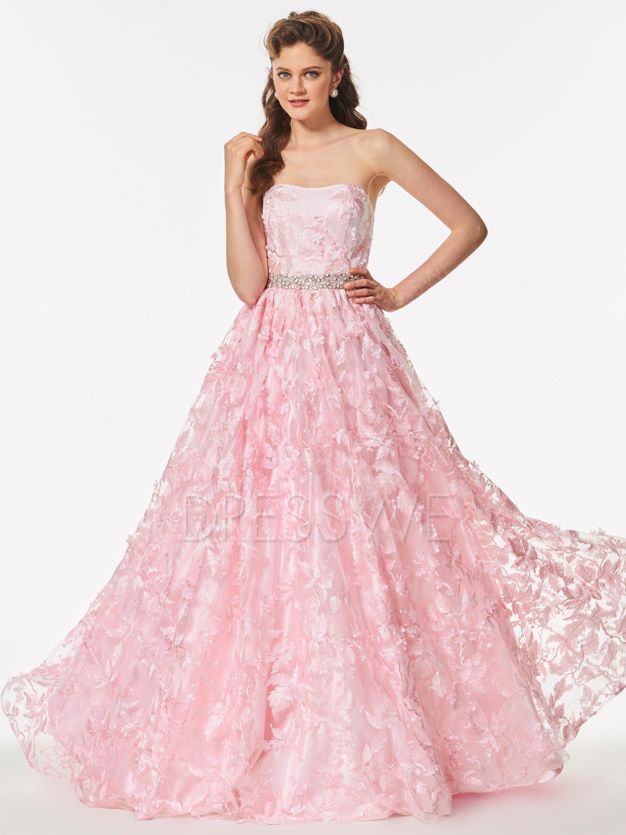 3ede6edc02 $138.99 Dresswe.com SUPPLIES A Line Strapless Beaded Waistline Lace ...