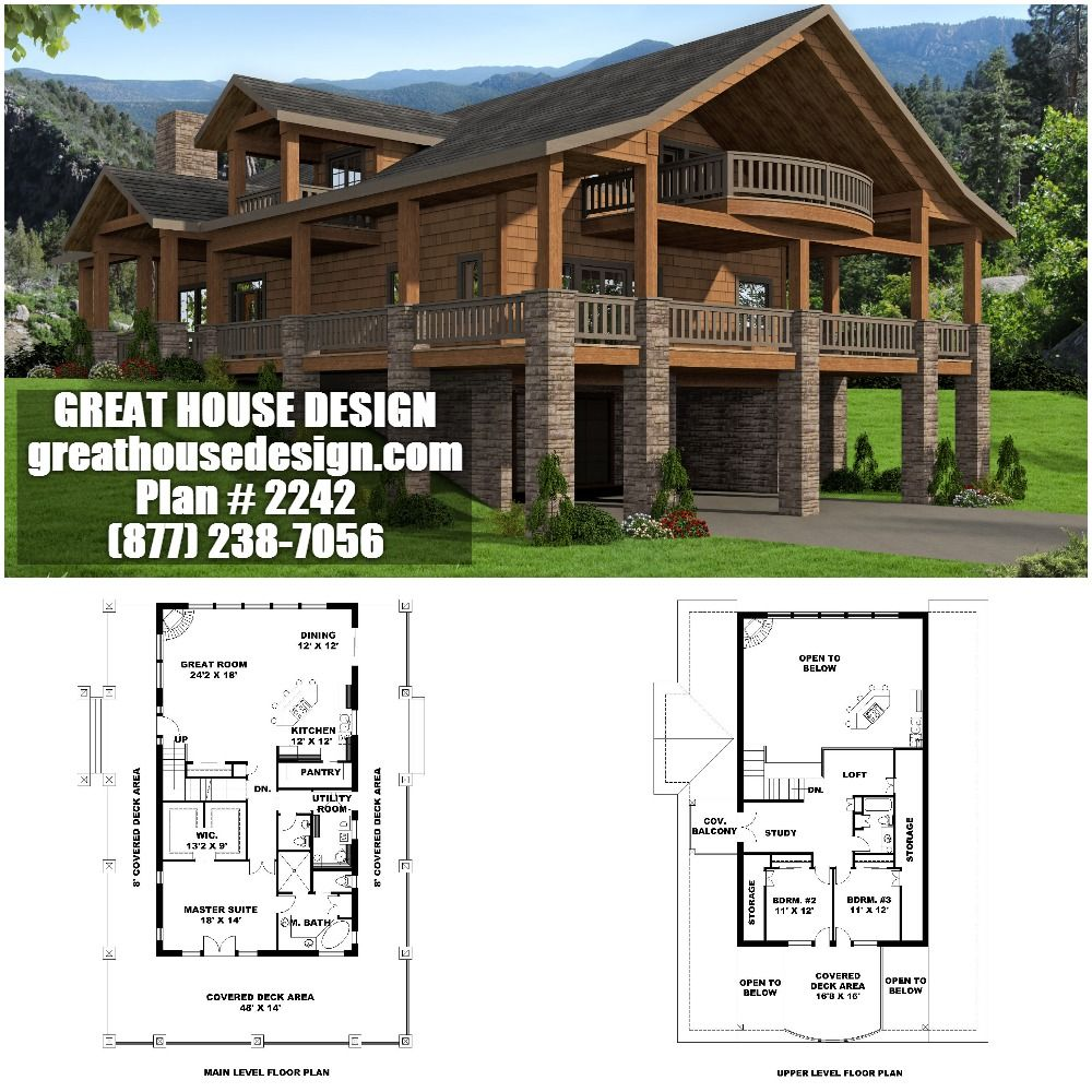 Home Plan 001 2242 Home Plan Great House Design Lake House