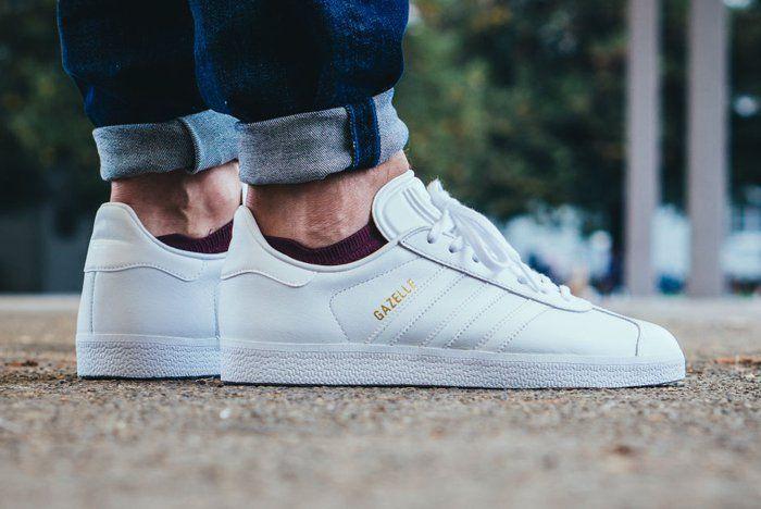 adidas Gazelle (Triple White) - Sneaker Freaker | Shoe