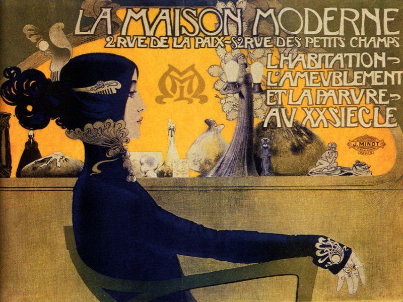 La maison moderne french poster fashion interior home decor art deco 67